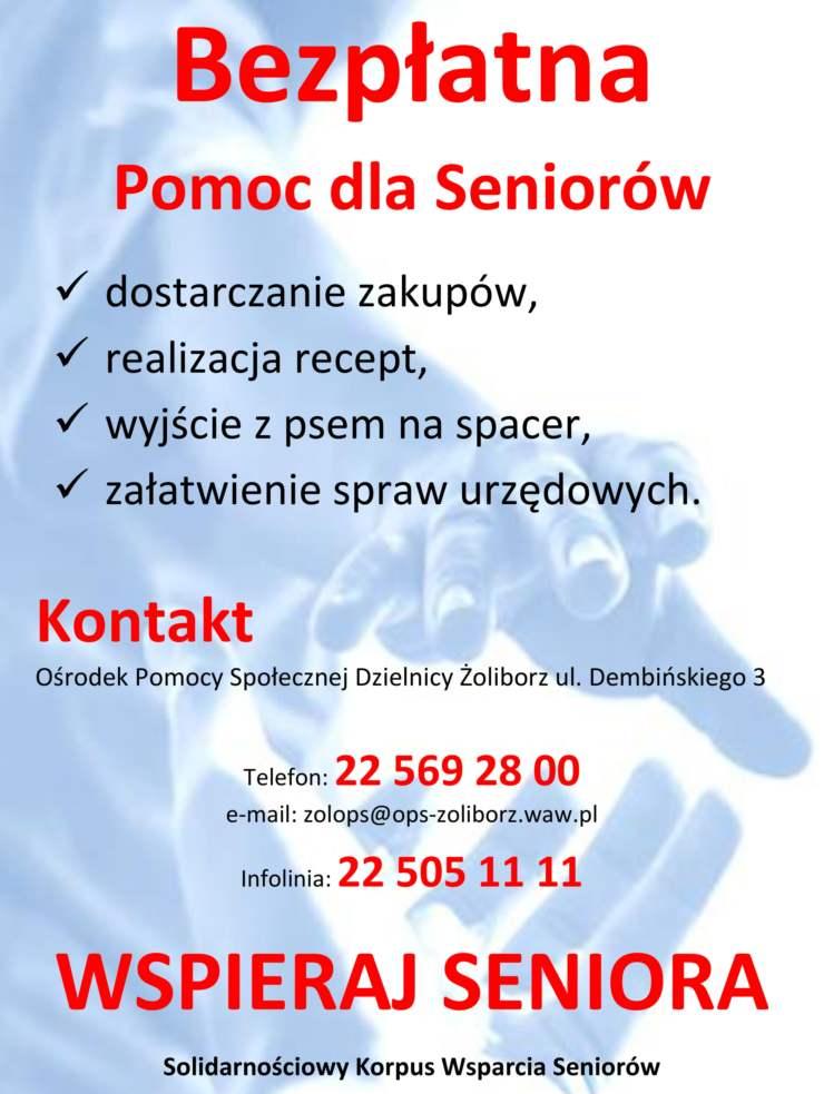 Bezpłatna pomoc dla Seniorów